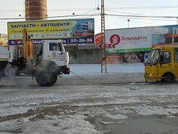 В Екатеринбурге машины примерзли к дороге