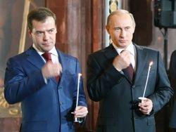Новость на Newsland: Как вам Путин и Медведев со свечками в храме?
