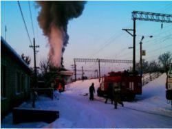 Из-за пожара под Воронежем остановлено движения поездов
