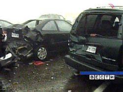 Под Барнаулом столкнулись сразу 10 автомобилей