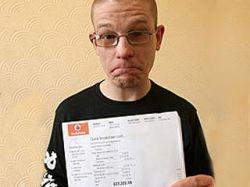 Житель Великобритании Ян Симпсон получил правильный счет от Vodafone на 55 тысяч