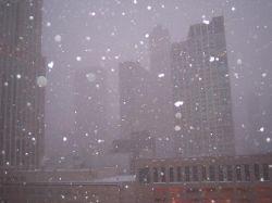В Чикаго хозяйничает метель