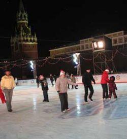Встреча Нового года на катке Красной площади обойдется в 2008 рублей