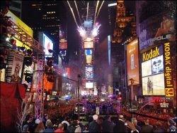 1 млн человек встретили Новый год на нью-йоркской Таймс-сквер