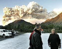 В Чили проснувшийся вулкан Лайма напугал туристов. Эвакуировано свыше 200 человек