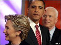 Опросы: Хиллари Клинтон и Барак Обама идут вровень