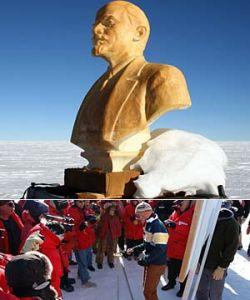 Ученые нашли бюст Ленина в Антарктиде