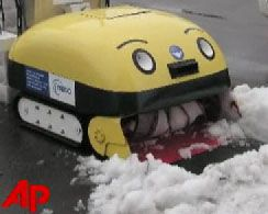 Юкитаро - робот, поедающий снег (видео)