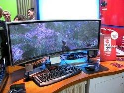 Изогнутый DLP-монитор для настоящих геймеров (видео)