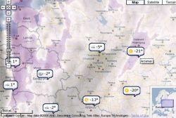 Прогноз погоды теперь и на Google Maps