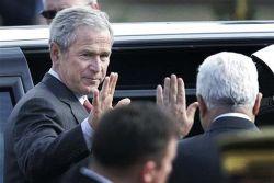 Встреча Джорджа Буша (George Bush) за стенами Мукаты (фото)