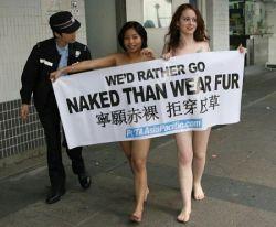 Члены Peta устроили очередной голый протест на неделе моды Hong Kong Fall (фото)