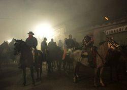 Очищение лошадей на празднике Святого Антонио (фото)
