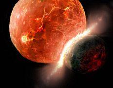 Столкновение планет создало странный мир