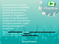 Sony Ericsson готовит запуск мультимедийного сервиса PlayNow Arena