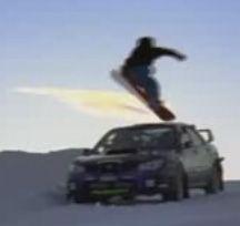 Может ли машина заменить сноуборд? (видео)