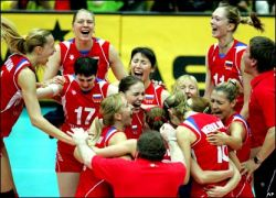 Российские волейболистки победно стремятся на Олимпиаду-2008