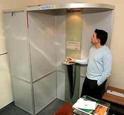 Алюминиевая беседка - курительная кабинка нового поколения