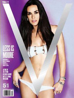 45-летняя Дэми Мур (Demi Moore) разделась для журнала после пластики (фото)