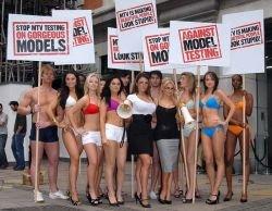 Модели протестуют против интеллектуального шоу на MTV (фото)