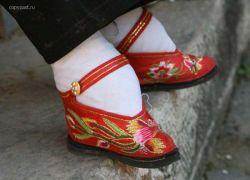 Лотосовые ножки - гордость китайских красавиц (фото)