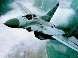 Военный самолет МиГ- 29 упал в море