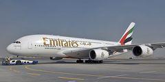 Авиакомпания Emirates установит душ в своих самолетах Airbus A380