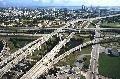 В Майами такси вылетело со скоростной магистрали