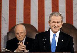 В своей последней речи в конгрессе Джордж Буш ни слова не сказал о России