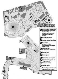 Детальный план реконструкции московского зоопарка