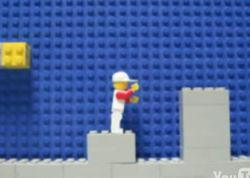 Игра SuperMario в стиле конструктора Lego (видео)