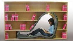 Дизайнерский шкафчик для любителей книг