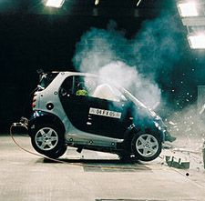 Трюки на автомобиле Smart (видео)