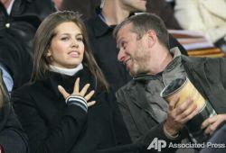 Роман Абрамович и Дарья Жукова побывали на матче киевского Динамо (фото)