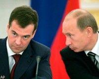 Рейтинги Владимира Путина и Дмитрия Медведева готовы сравняться
