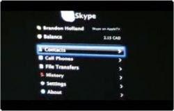 На приставку Apple TV поставили Skype