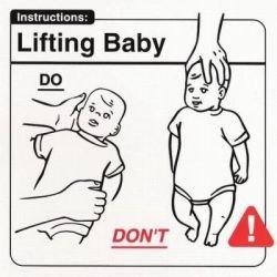 Инструкции по уходу за младенцем для молодых американских родителей (фото)