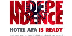 Поддержав независимость Косово, можно получить скидку в отеле