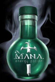 Энергетический напиток Mana в стиле World of Warcraft