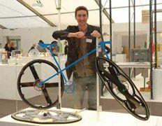 Колёса-ножницы просятся на складной велосипед