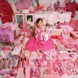 Розовый и голубой цвета в интерьере детских комнат (фото)
