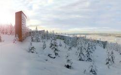 Проект горнолыжного отеля на склоне горы (фото)