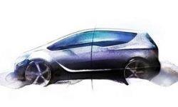 Opel показал первые скетчи новой Meriva