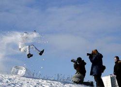 Тазовый Downhill - самое экстремальное зимнее развлечение (фото)