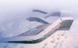Отель для горнолыжников размажут по склону