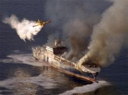 Турецкое судно с нефтепродуктами потушили за три дня
