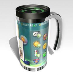 Чашка и компьютер: два в одном