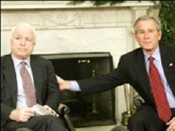 Джордж Буш заявил, что поддержит Маккейна, если тот станет кандидатом