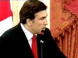 Михаил Саакашвили для Запада нарисовал портрет своей страны: в отличие от России, истинная демократия