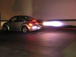 Единственный в мире Volkswagen New Beetle с турбореактивным двигателем (фото)